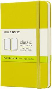 Taccuino Moleskine pocket a pagine bianche copertina rigida. Giallo