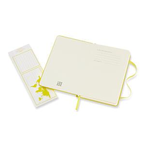 Taccuino Moleskine pocket a pagine bianche copertina rigida. Giallo - 3