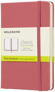Cartoleria Taccuino Moleskine pocket a pagine bianche copertina rigida rosa. Daisy Pink Moleskine