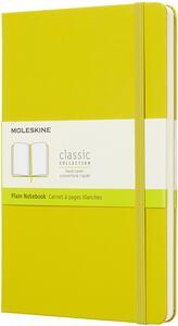 Cartoleria Taccuino Moleskine large a pagine bianche copertina rigida giallo. Dandelion Yellow Moleskine