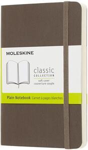 Taccuino Moleskine pocket a pagine bianche copertina morbida. Marrone