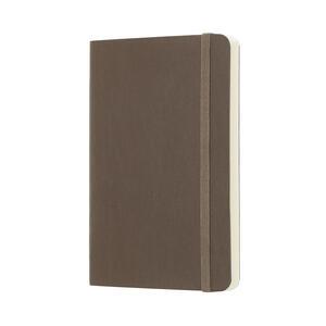 Taccuino Moleskine pocket a pagine bianche copertina morbida. Marrone - 2