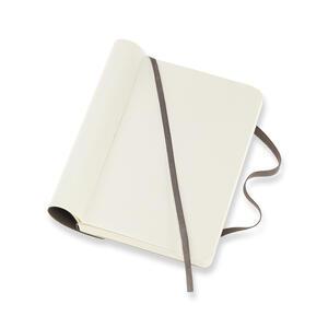 Taccuino Moleskine pocket a pagine bianche copertina morbida. Marrone - 4