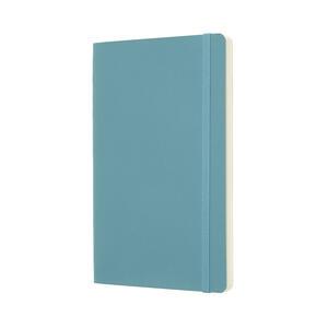 Taccuino Moleskine large a pagine bianche copertina morbida azzurro. Reef Blue - 2