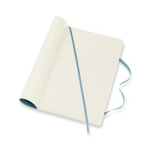 Taccuino Moleskine large a pagine bianche copertina morbida azzurro. Reef Blue - 4