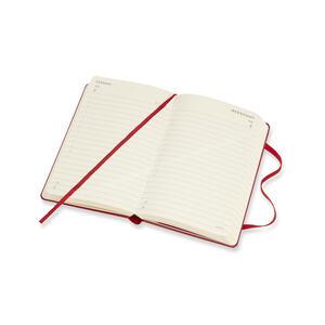 Agenda giornaliera 2019, 12 mesi, Moleskine pocket copertina rigida. Rosso - 5