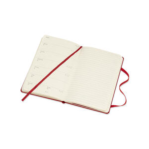 Weekly Notebook. Agenda-taccuino settimanale 2019, 12 mesi, Moleskine pocket copertina rigida. Rosso - 5