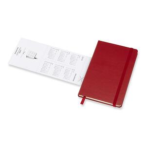 Weekly Notebook. Agenda-taccuino settimanale 2019, 12 mesi, Moleskine pocket copertina rigida. Rosso - 6