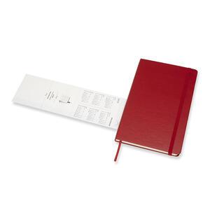 Weekly Notebook. Agenda-taccuino settimanale 2019, 12 mesi, Moleskine large copertina rigida. Rosso - 6