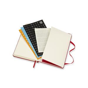 Weekly Notebook. Agenda-taccuino settimanale 2018-2019, 18 mesi, Moleskine pocket copertina rigida. Rosso - 7