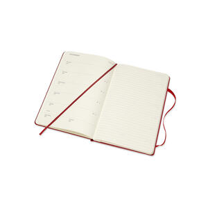 Weekly Notebook. Agenda-taccuino settimanale 2018-2019, 18 mesi, Moleskine large copertina rigida. Rosso - 5