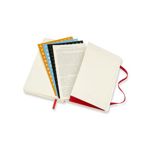 Weekly Notebook. Agenda-taccuino settimanale 2018-2019, 18 mesi, Moleskine pocket morbida rigida. Rosso - 7