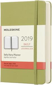 Agenda giornaliera 2019, 12 mesi, Moleskine pocket copertina rigida. Verde