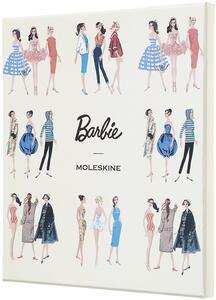 Taccuino Moleskine Barbie Limited Edition large a righe. Scatola da collezione