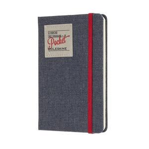 Weekly Notebook. Agenda-taccuino settimanale 2019, 12 mesi, Moleskine pocket. Limited Edition Denim. Nero - 2