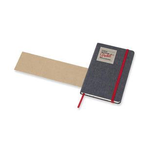 Weekly Notebook. Agenda-taccuino settimanale 2019, 12 mesi, Moleskine pocket. Limited Edition Denim. Nero - 5