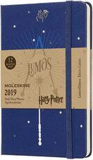 Cartoleria Weekly Notebook. Agenda-taccuino settimanale 2019, 12 mesi, Moleskine pocket. Limited Edition Harry Potter. Blu Moleskine