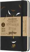 Cartoleria Weekly Notebook. Agenda-taccuino settimanale 2018-2019, 18 mesi, Moleskine pocket. Limited Edition Harry Potter. Nero Moleskine