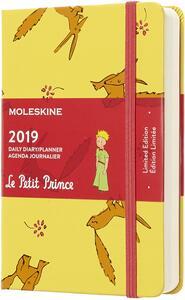 Agenda giornaliera 2019, 12 mesi, Moleskine pocket. Limited Edition Piccolo Principe. Giallo