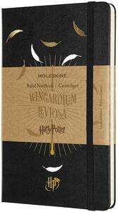 Cartoleria Taccuino Moleskine Harry Potter Limited Edition large a righe. Wingardium Leviosa. Nero Moleskine