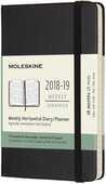 Cartoleria Agenda settimanale orizzontale 2018-2019, 18 mesi, Moleskine pocket morbida rigida. Nero Moleskine