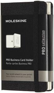 Cartoleria Portacarte Pro Business Card Holder XS copertina rigida nero. Black Moleskine