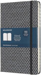 Cartoleria Taccuino Moleskine Blend 19 Limited Collection large a righe nero. Black Moleskine
