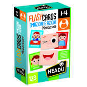 Giocattolo Flashcards Montessori - Emozioni e Azioni Headu