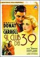 Cover Dvd DVD Il club dei trentanove