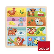 Goula Animals & Food Puzzle 8 pezzo(i)