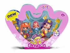 Giocattolo Pinypon. Pack 1 Pinypon Pirata Con 1 Pinypon Sirena e 1 Mini Pinypon Sirena Famosa