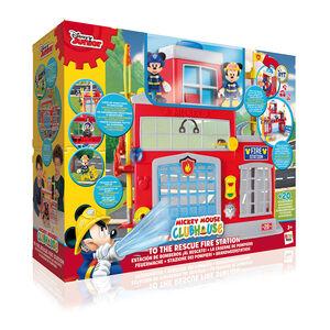 Giocattolo La Casa di Topolino. Caserma Dei Pompieri con Luci, Suoni, Topolino e Minnie IMC Toys