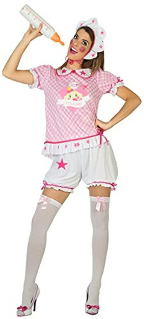 Costume per Adulti Neonato Rosa M/L