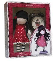 Gorjuss. Gift Set Rag Doll And Bells Clock