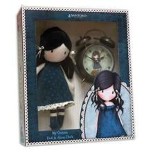 Gorjuss. Gift Set Rag Doll And Bells Clock You Brought Me Love
