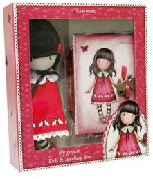 Gorjuss. Set Jewel Box With Lock And Rag Doll. Time To Fly