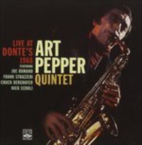 CD Live at Donte's 1968 Art Pepper