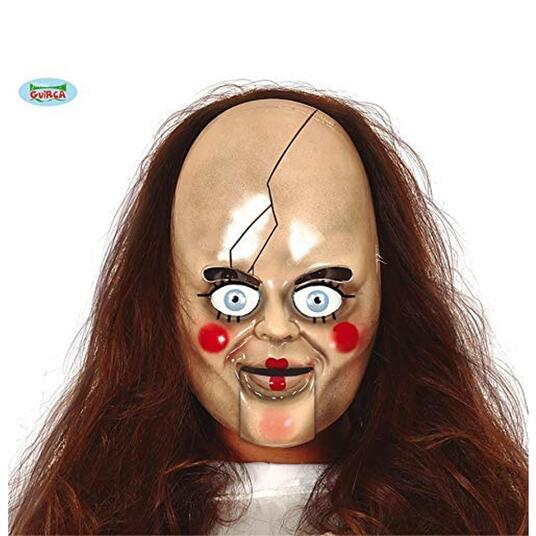Maschera In Pvc Bambola Horror Halloween - 2
