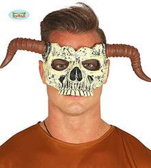 Mezza maschera teschio in schiuma di lattice
