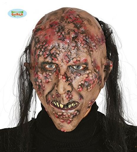 Maschera Zombie Infetto Con Capelli