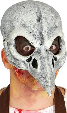 Maschera metà viso. Da scheletro uccello in lattice