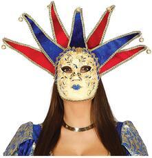 Maschera veneziana jolly marchesa marchese carta pesta