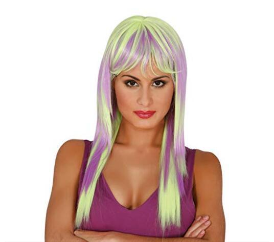 Parrucca Pop Lilla-Verde Floo - 2