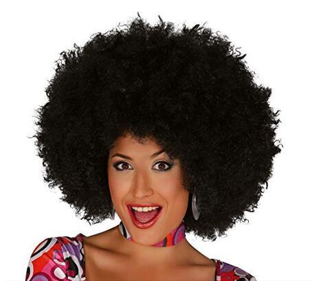 Parrucca Afro Maxi Nera - 4