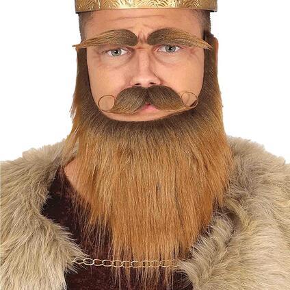 Barba baffi e soppracciglia uomo medievale viking barbaro