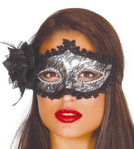 Maschera D Argento Decorata Con Fiore
