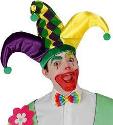Cappello clown joker pagliaccio accessori travestimento carnevale circo