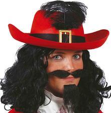 Cappello moschettiere d artagnan carnevale uomo donna adulto