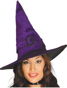 Cappello da strega viola hallowenn