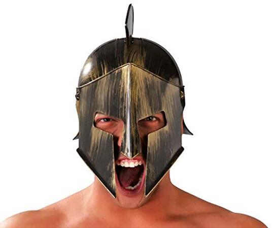 Elmo spartano gladiatore romano carnevale accessori